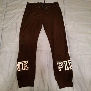 Victoria secret pink crop sweat pants